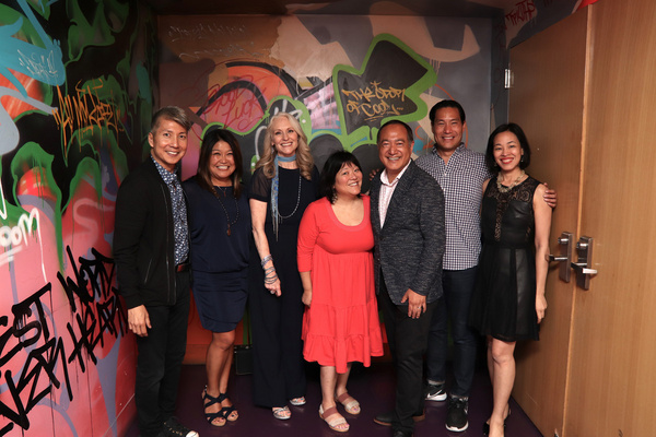Jason Ma, Hazel Anne Raymundo, Elizabeth Ward Land, Ann Harada, Alan Muraoka, Darren Lee and Lia Chang. Photo by Garth Kravits