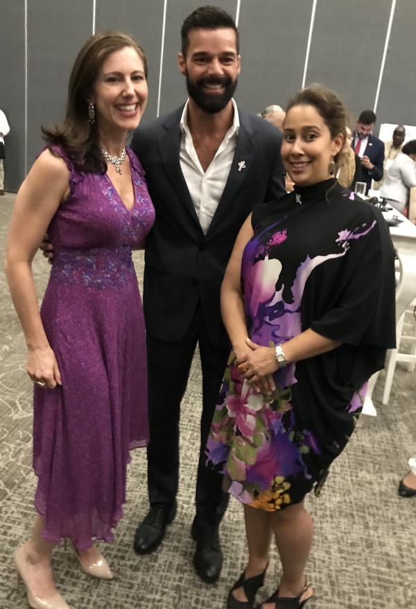 Camille Zamora, Ricky Martin, and Monica Yunus Photo