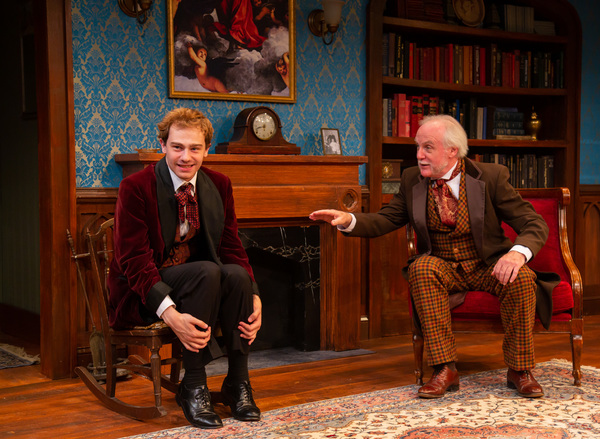(L-R) Ben Ribler as Eugene Marchbanks and David Bryan Jackson as Mr. Burgess in Candi Photo