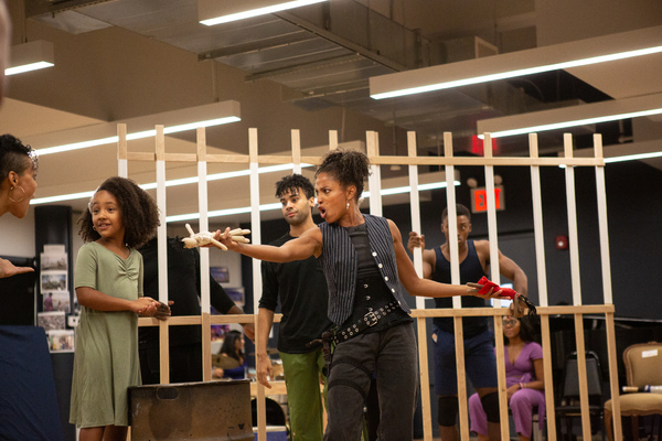 Tamyra Gray and The Cast of Once On This Island Photo