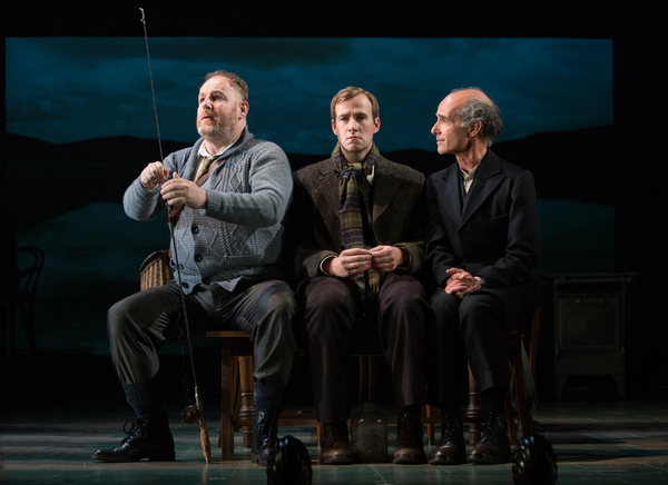 David Ganly, Steffan Harri and Finbar Lynch in GIRL FROM THE NORTH COUNTRY Toronto/Lo Photo