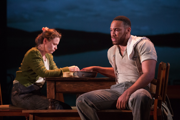 Katie Brayben and Shaq Taylor in GIRL FROM THE NORTH COUNTRY Toronto/London Company Photo