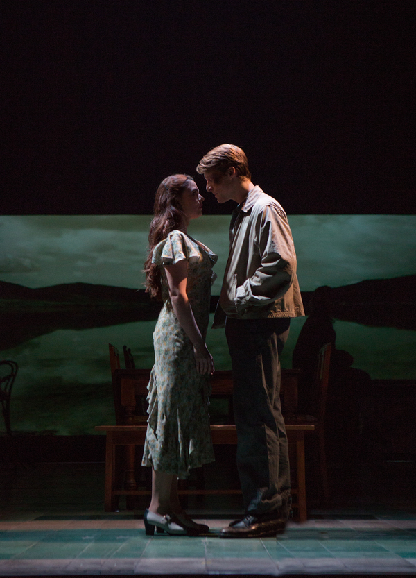 Gemma Sutton and Colin Bates in GIRL FROM THE NORTH COUNTRY Toronto/London Company Photo