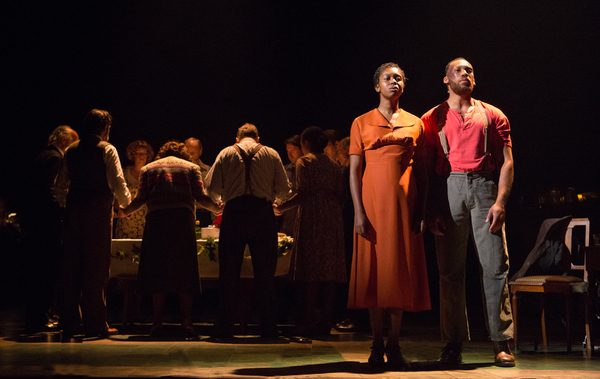 Gloria Obianyo, Shak Taylor and the cast of GIRL FROM THE NORTH COUNTRY Toronto/London Company