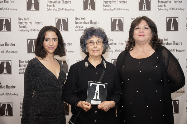 Artistic Achievement Award presented to Magie Dominic by Jazmyn Arroyo and Joan Kane  Photo