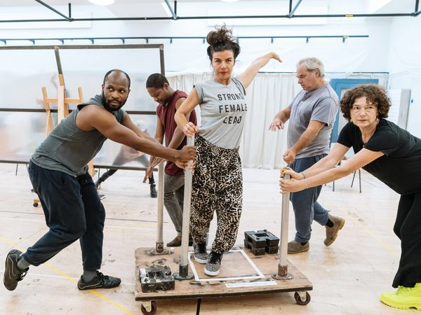 Photo Flash: Inside Rehearsal For BOTTICELLI IN THE FIRE at Hampstead Theatre