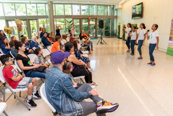 Photo Flash: Young Talent Big Dreams All Stars Visit Miami Cancer Institute To Perform Special Showcase