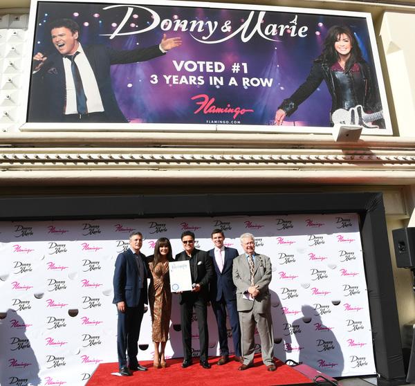 Photo Flash: Donny & Marie Osmond Honored by Las Vegas Walk of Stars at Flamingo Las Vegas
