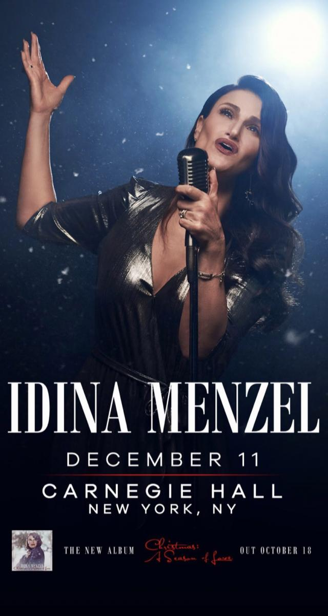 Idina Menzel to Bring the Holiday Spirit to Carnegie Hall December 11th