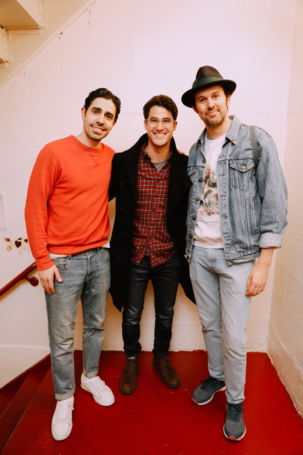 Photo Flash: Darren Criss and Lena Hall Stop By OKLAHOMA! On Broadway
