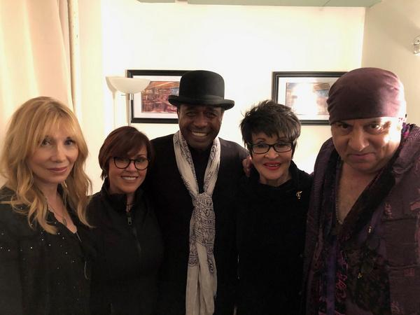 Chita Rivera with Lisa Mordente, Stevie Van Zandt, Maureen Van Zandt, and Ben Vereen