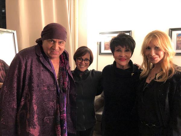 Chita Rivera with Lisa Mordente, Stevie Van Zandt, and Maureen Van Zandt Photo