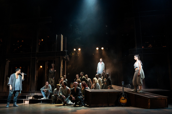 James Delisco Beeks, Aaron LaVigne, Jenna Rubaii and the company of the North American Tour of JESUS CHRIST SUPERSTAR.