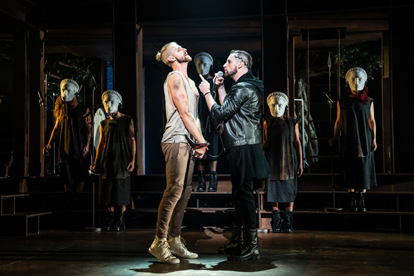 Aaron LaVigne, Tommy Sherlock and the company of the North American Tour of JESUS CHRIST SUPERSTAR.