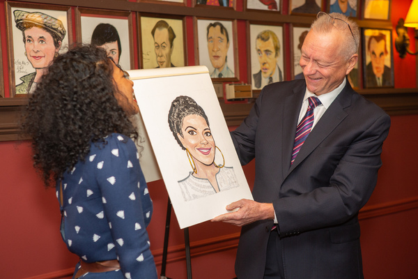 Rebecca Naomi Jones Receives Sardi's Portrait