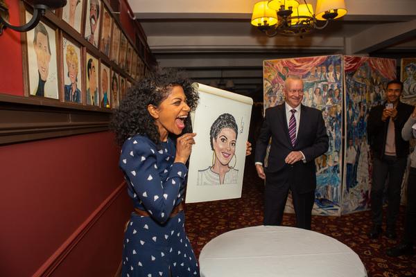 Photo Coverage: Rebecca Naomi Jones Receives Portrait at Sardi's