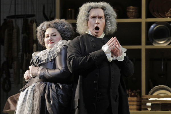 Catherine Cook as Marcellina and James Creswell as Bartolo