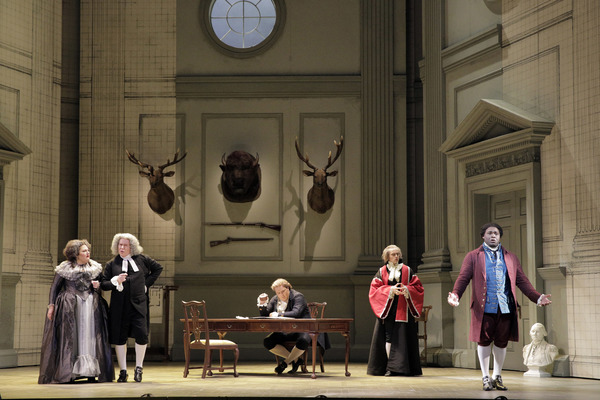 Catherine Cook as Marcellina, James Creswell as Bartolo, Levente Molnár as Count Almaviva, Brenton Ryan as Curzio, and Michael Sumuel as Figaro