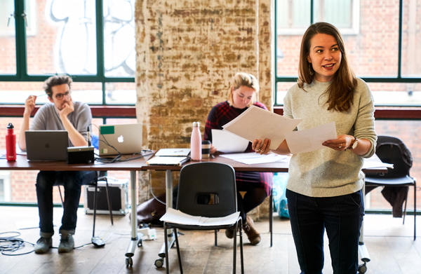 Photo Flash: Inside Rehearsal For BERYL at Arcola Theatre