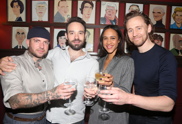 Director Jamie Lloyd, Charlie Cox, Zawe Ashton and Tom Hiddleston  Photo