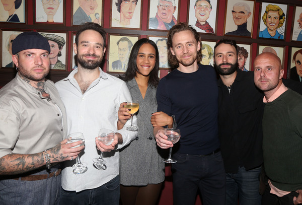 Director Jamie Lloyd, Charlie Cox, Zawe Ashton, Tom Hiddleston, Eddie Arnold and Asso Photo