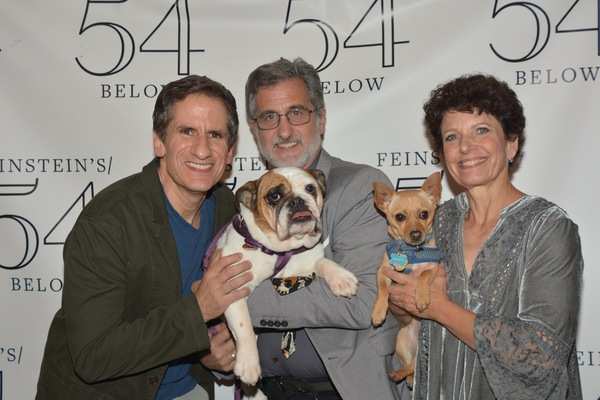 Seth Rudetsky, Bill Berloni and Dorothy Berloni with Myrtle and Little Ricky