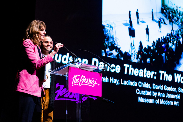 MoMA''s Ana Janevsky and Thomas Lax accepting the 2019 Bessie Awards for Outstanding  Photo