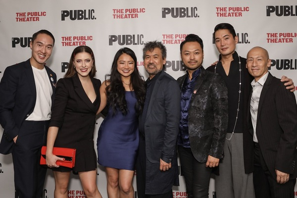 John Yi, Emily Trumble, Emily Stillings, David Henry Hwang, Billy Bustamante, and Aus Photo