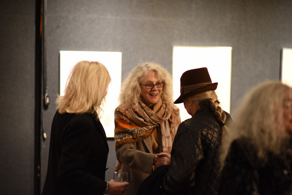 Blythe Danner arrives at the Nation Arts Club for Joseph Feury''s Fioretti: Through the Window, opening.