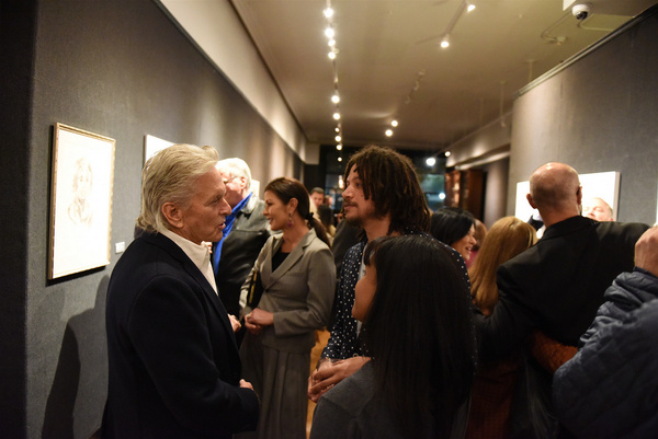 Michael Douglas and Taylor A. Purdee chat during Joseph Feury''s Fioretti: Through th Photo