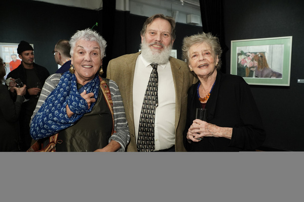 Tyne Daly and Joyce Van Patten attend Joseph Feury''s Fioretti: Through the Window exhibit.