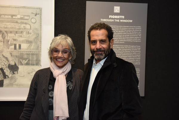 Actors Tony Shalhoub and Brooke Adams arrive at Joseph Feury''s Fioretti: Through the Photo