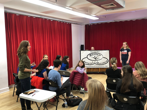 Photo Flash: Laura Osnes Teaches at One Day Master Class With Broadway Artists Alliance