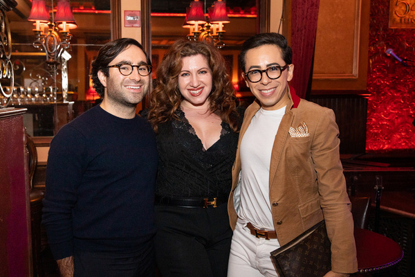 Andrew Favorito, Lydia Liebman and Alexander Romero at Feinstein''s/54 Below on September 20, 2019    Photo by Leslie Farinacci