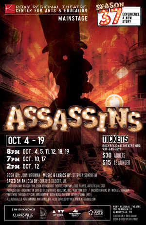 BWW Review: Roxy Regional Theatre's Latest Iteration of ASSASSINS is Brilliant and Chilling