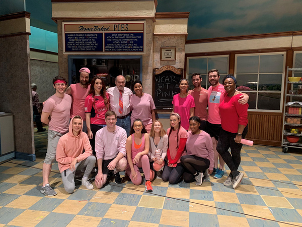 Photo Flash: WAITRESS Goes Pink To Support Breast Cancer Awareness