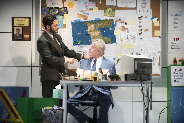 Mike Squillante and Gary Busey in Only Human at the Theatre at St. Clements
