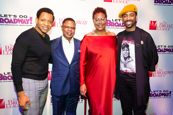 Derrick Baskin, Harriette Cole, Denée Bneton, Paul Tazewell and Lynn Nottage