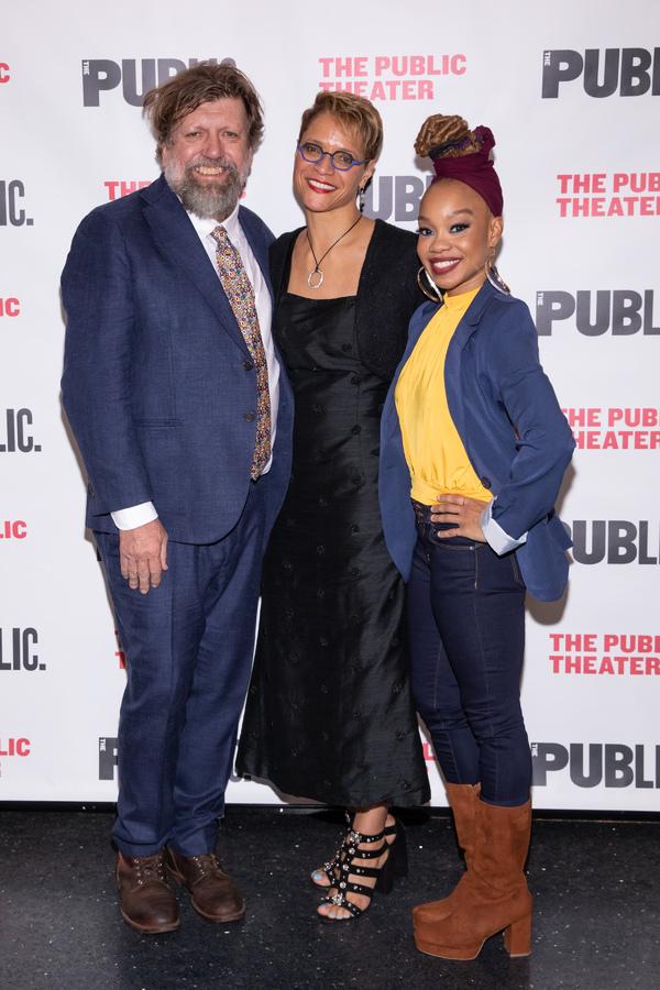 Public Theater Artistic Director Oskar Eustis, Director Leah C. Gardiner, and Choreog Photo