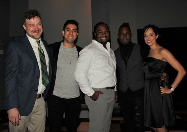 Director Kristan Seemel, Abraham Makany, Shabazz Green,  Roderick Lawrence and Salma  Photo
