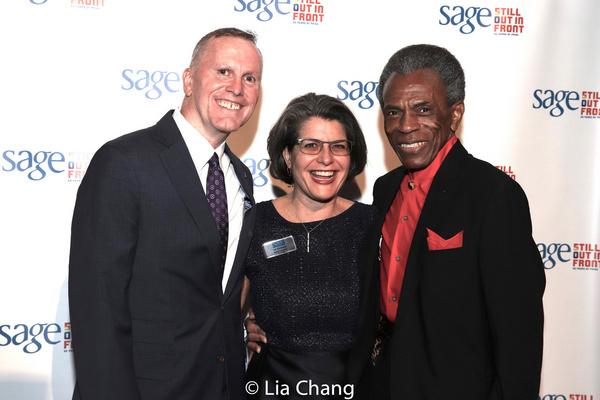 SAGE CEO Michael Adams, Elizabeth Schwartz and Andre De Shields Photo