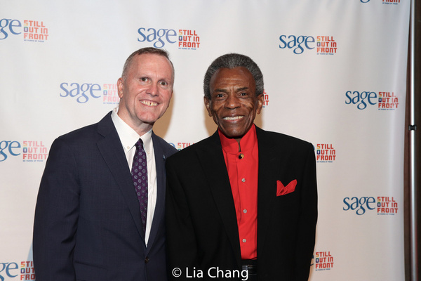 SAGE CEO Michael Adams and Andre De Shields Photo