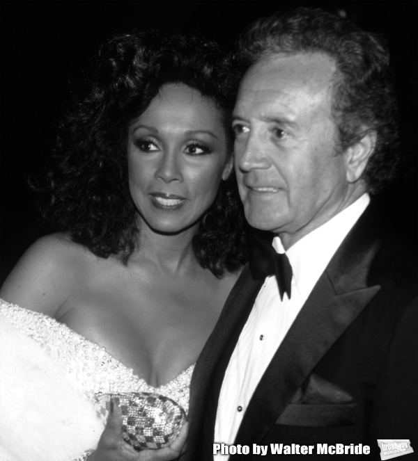 Diahann Carroll and Vic Damone attend 38th Annual Primetime Emmy Awards on September 21, 1986 at the Pasadena Civic Auditorium in Pasadena, California.