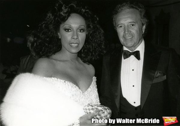 Diahann Carroll and Vic Damone during 38th Annual Primetime Emmy Awards at Pasadena Civic Auditorium in Pasadena, California, United States. 9/21/1986