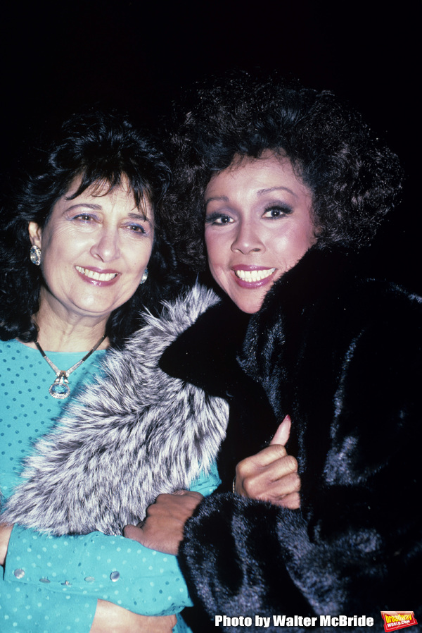 Diahann Carroll and Esther Shapiro photographed at Spago's in September, 1986.