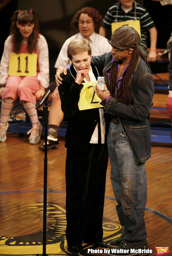 Julie Andrews and Derrick Baskin during Kid's Night On Broadway, join the gang at THE Photo
