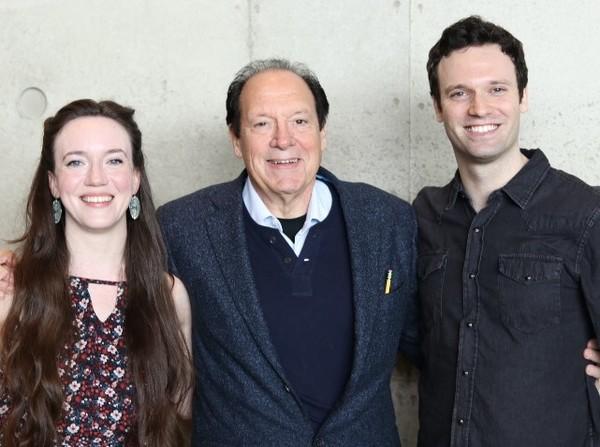 Amelia Pedlow, Ken Ludwig and Jake Epstein Photo