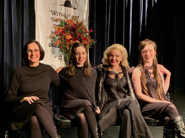 Evan Yionoulis Talene Monahon, Alison Fraser ad Amelia Pedlow Photo