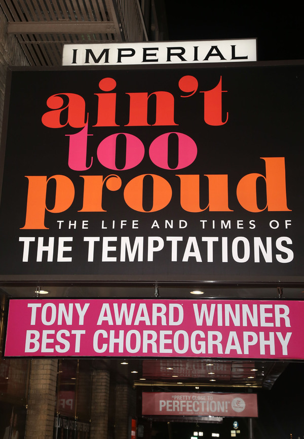 "NEW YORK, NEW YORK - OCTOBER 30: (EXCLUSIVE COVERAGE) Signage as the cast of ""Ain't T Photo"