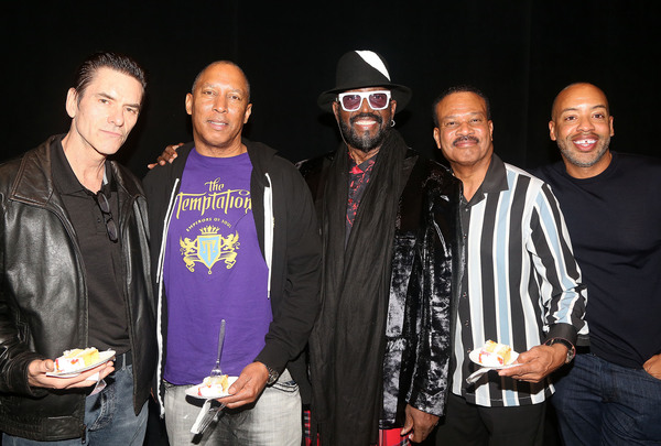 Mark Lieberman, Michael Norfleet,Otis Williams, T.C. Campbell and Derrick Porter  Photo